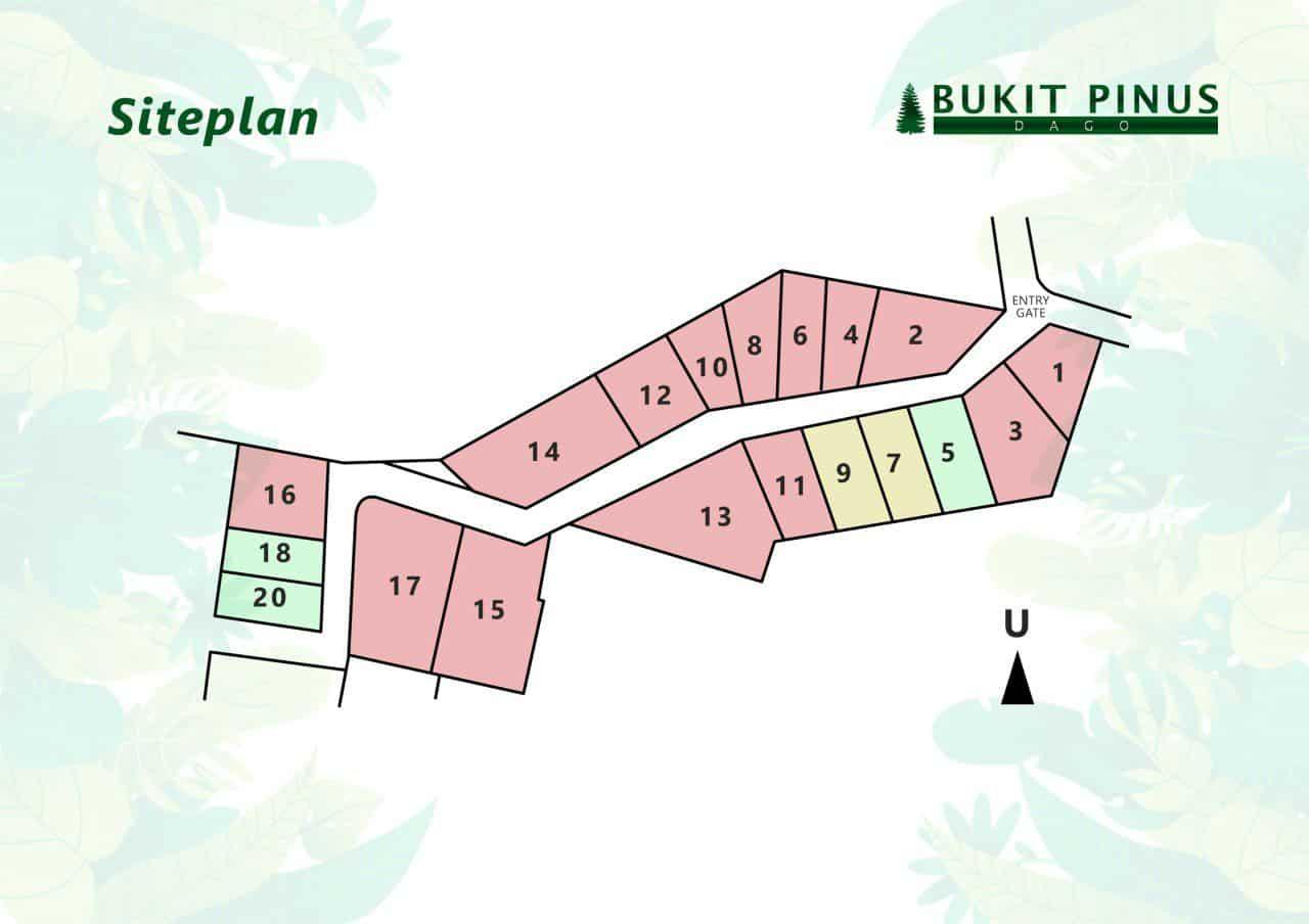 siteplan bukit pinus dago
